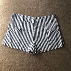 Blue and white ANTHROPOLOGIE shorts